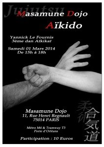 Stage Mars 2014 Aikido Yannick LE FOURNIS